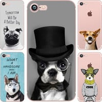 Cute Animals Dogs Case for iphone 6 6S 5s SE 6 6 plus  7 7 plus