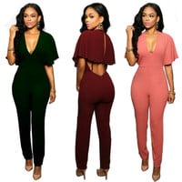 New 2016 Women's Sexy Fashion Zipper Pants Overalls Sexy Women Jumpsuits Casual Vintage Rompers Womens Sleeveless Jumpsuit