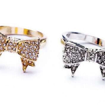 Crystal Bow Rings