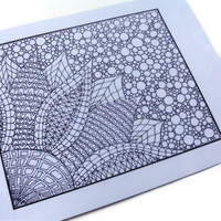 Zendoodle Coloring Page Printable Page 2, by JoArtyJo