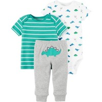 Child of Mine by Carter's Newborn Baby Boy Tshirt, Bodysuit, and Pants Set - Walmart.com