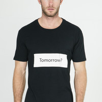 Quality Peoples Tomorrow? Black Pocket T Shirt