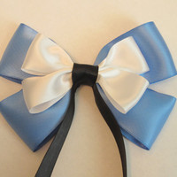 Alice in Wonderland Hair Bow Disney Inspired by bulldogsenior08