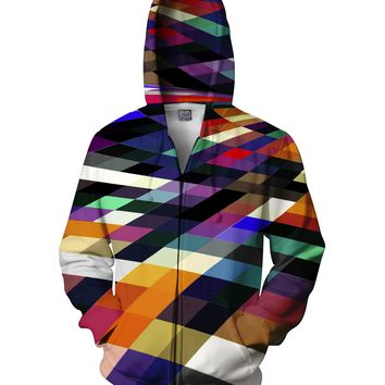 Pixel Party Zip-Up Hoodie