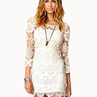 Crochet Lace Mini Dress
