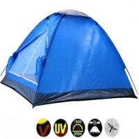 Hot Sale Ultralight Waterproof windproof PE Fiberglass rod 2 person 4 season single layer outdoor travel camping hiking tent