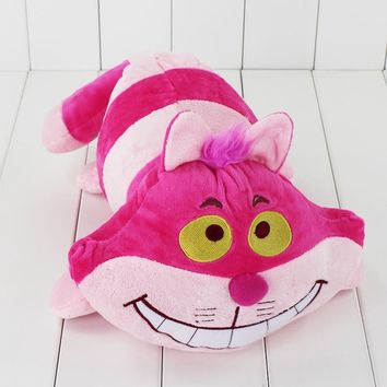30cm Hot Selling Cartoon Soft Stuffed Alice in Wonderland Cheshire Cat Plush Doll Pink Soft Toy Animals Plush Toys for Kids