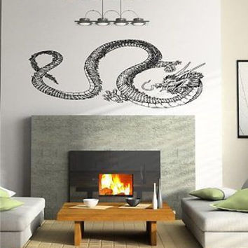 Anime Dragon Asian Decor Wall Art Sticker Decal d1878
