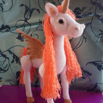 Unicorn, Pegasus, Horse. Toy crochet pattern (PDF) - Mysterious, Charming, Beautiful toy - girls just love it