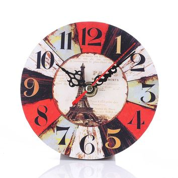 Vintage Round Wall Clock Imitation Wood Retro Number Round Clocks Home Decorate Watch For Living Room Bedroom Off 2017ing