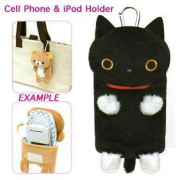 San-X Kutusita Nyanko Plushy Cell Phone/iPod Holder