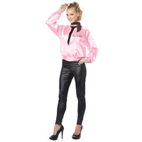California Costumes Womens The Pink Satin Ladies Halloween Party Jacket Costume