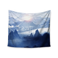 "Viviana Gonzalez ""Winter, Melody..."" Blue Nature Wall Tapestry"