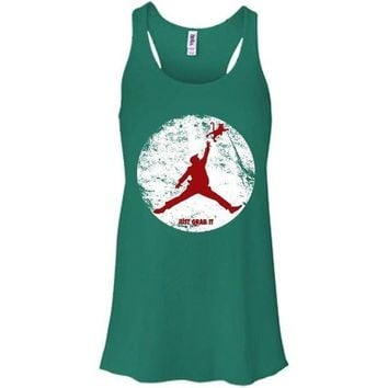 MDIGUG7 Donald Trump Jordan Air Just Grab It Grab Bella + Canvas Flowy Racerback Tank