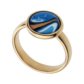 blue ring jewelry enamel jewelry pink gold ring enamel ring handmade jewelry gifts for her modern art