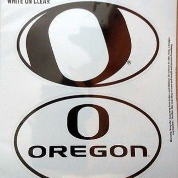 Oregon Ducks 2-Pack EURO STYLE Vinyl Oval Home Auto Decals Sticker University of
