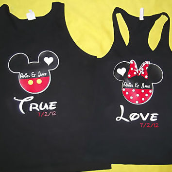 True Love Mickey and Minnie Couples Shirts