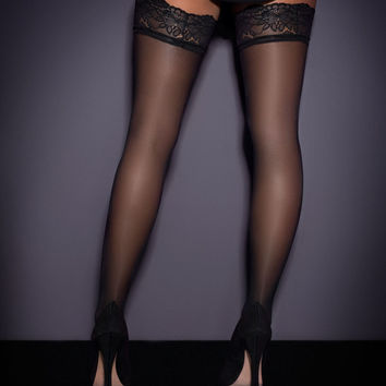 New In by Agent Provocateur - Lace Top Hold Up