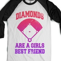 Diamonds Are A Girls Best Friend (Baseball Shirt)-T-Shirt