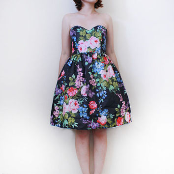 RESERVED for Carola Limited Edition Rose Garden Dress ONE LEFT custom to your size.