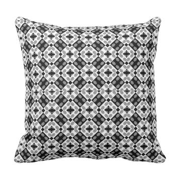 Geometric Modern Baroque Pattern Throw Pillow