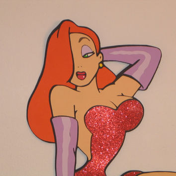 Jessica Rabbit 24 inch tall standee / cut out / Tribute to Pleasure Island