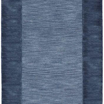 Trans Ocean Mercer Border Denim Area Rug