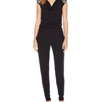 Cowl-Neck Jumpsuit