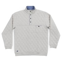 Ryan Quilted Pullover in Oatmeal by Southern Marsh - FINAL SALE