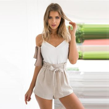 Casual Backless One Pieces Set Playsuit