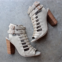 on the go double buckle heels - stone