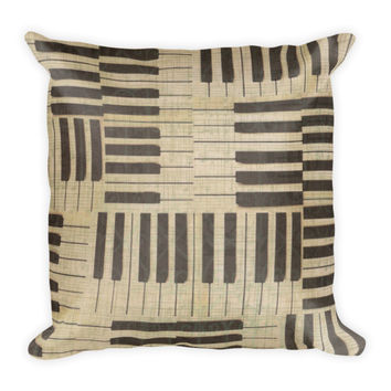 Music Piano Key Decorative Pillow