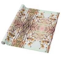 Old world bee illustration wrapping paper