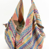 Geo Mixed Pattern Boho Bag