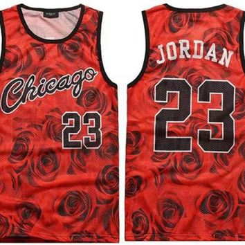 ONETOW 2017 men's summer tank tops 3D print rose floral 23 vest fit slim jersey sleeveless tee shirts boys clothes
