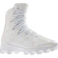 Under Armour Highlight RM Youth Lacrosse Cleats - White/Silver