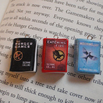 Hunger Games Book Charms by FragSandwich on Etsy
