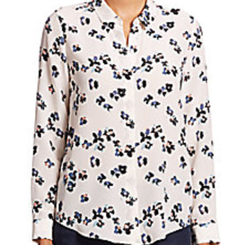 Rebecca Taylor - Pinwheel Posey Silk Shirt - Saks Fifth Avenue Mobile