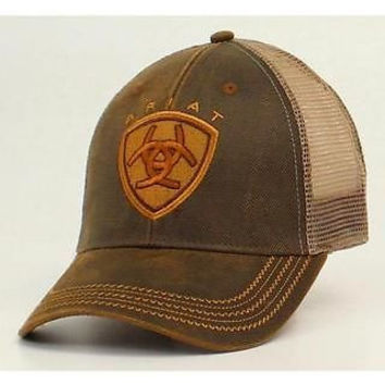 Ariat Patch Logo Oilskin Brown Mesh Cap
