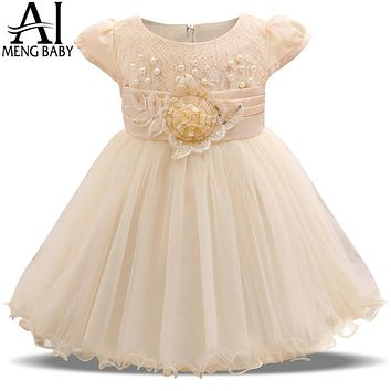 Girl Dress For Baptism Baby Girl Dress New Born Shower Gift Infant Baby Party Frock Design