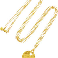 Monica Vinader Ava gold-plated sapphire necklace – 55% at THE OUTNET.COM