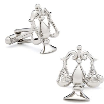 Silver Scales of Justice Cufflinks