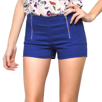 2016 Summer  Women Shorts Slim  Candy-colored Shorts  Double Side Zipper TY0018