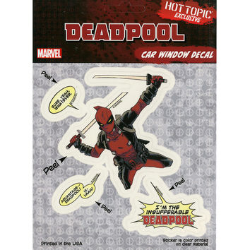 Marvel Deadpool Car Window Decals
