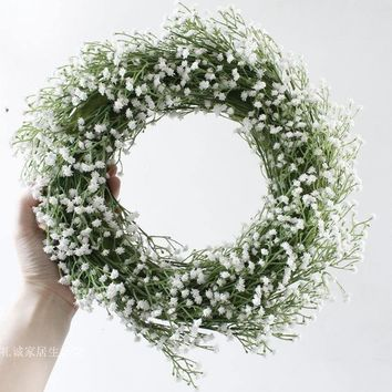 Artifical Babys Breath Home Wall Decoration Wreaths, Christmas Wreaths,Year Round Wreath,Front Door Wreath,Door Hangers