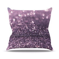 "Debbra Obertanec ""Lavender Sparkle"" Purple Glitter Throw Pillow, 16"" x 16"" - Outlet Item"