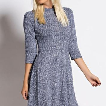 Sierra Ribbed Knit Swing Dress FINAL SALE!