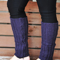 Nice And Cozy Leg Warmers: Purple | Hope's