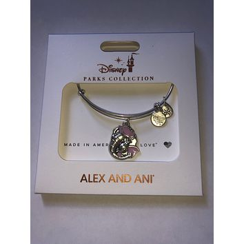 Disney Alex and Ani Mrs. Dumbo and Baby Dumbo Bangle Silver Finish New