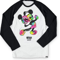 Distorted Mickey Collection By Neff Boys Bend Baseball T-Shirt